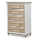 Port-Royale-5-Drawer-Chest-brown-White-Weave-wood-Coastal-bedroom-casual