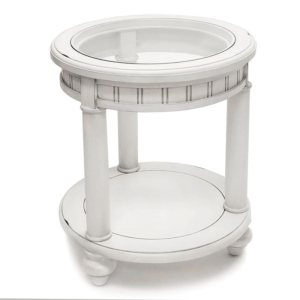 Monaco-round-white-end-table-for-coastal-decor