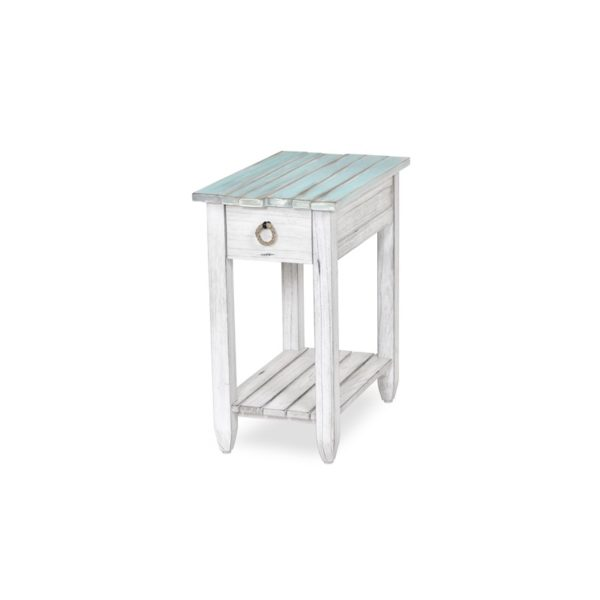 Picket-Fence-coastal-distressed-blue-chairside-table