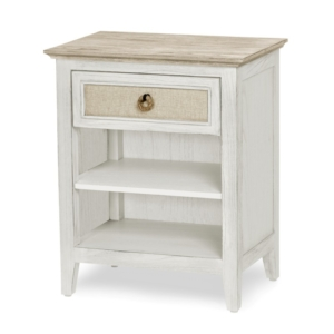 Captiva-Island-distressed-brown-casual-nightstand-and-fabric-on-drawers
