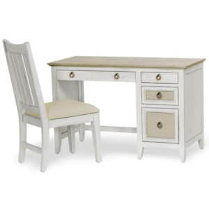 Captiva-Island-two-tone-distressed-tan-white-casual-desk-and-chair