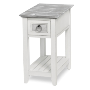 Captiva-Island-casual-distressed-Chairside-table-with-Gray-fabric-rope-pulls