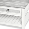 Captiva-Island-casual-distressed-coffee-table-Gray-fabric-detail-rope-pulls-white