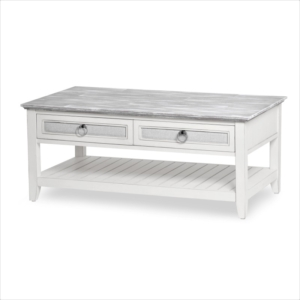 Captiva-Island-casual-distressed-coffee-table-Gray-fabric-rope-pulls-white