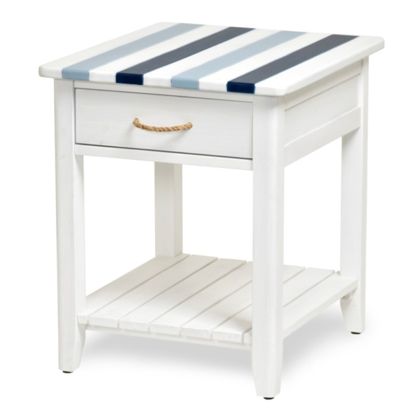 Nantucket-Casual-Nautical-decor-living-room-end-table-navy-blue-white-and-rope-hardware