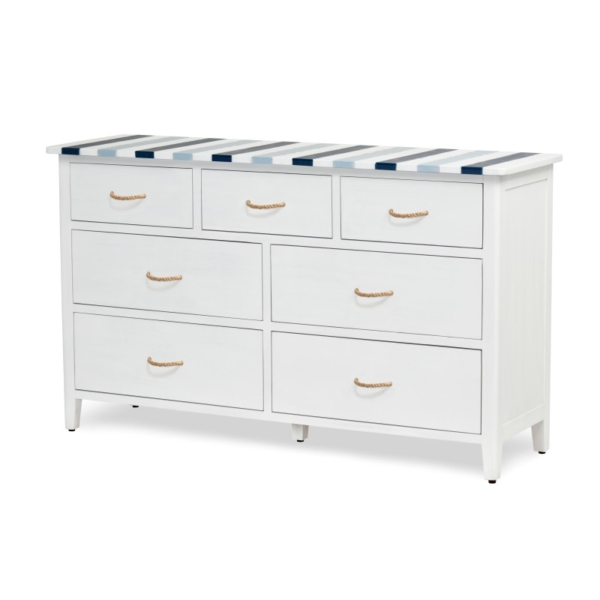 Nantucket-Coastal-nautical-blue-white-hardwood-bedroom-dresser
