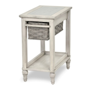 Island-Breeze-woven-basket-chairside-table-casual-coastal-gray-distressed-white-finish