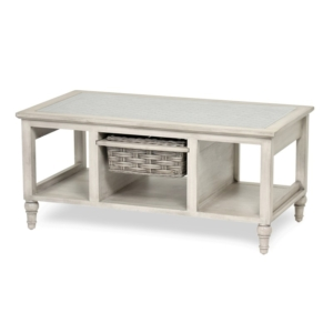 Island-Breeze-woven-basket-coffee-table-casuas-coastal-gray-distressed-white-finish