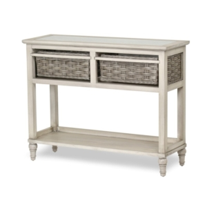 Island-Breeze-woven-basket-console-table-Casual-coastal-gray-distressed-white-finish