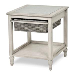 Island-Breeze-woven-basket-end-table-casual-coastal-gray-distressed-white-finish
