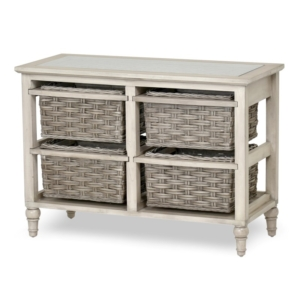 Island-Breeze-woven-basket-horizontal-storage-Gray-distressed-white-finish