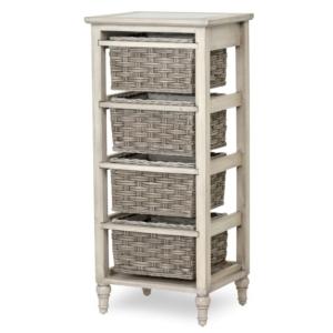 Island-Breeze-woven-basket-vertical-storage-casual-coastal-gray-distressed-white-finish
