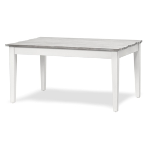Picket-Fence-casual-wood-dining-table-dapple -gray-white-finish